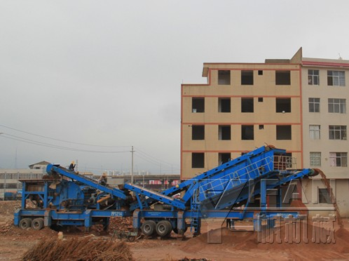 mobile concrete crusher for concrete recycling