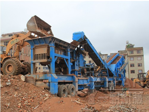 mobile crusher for concrete recycling