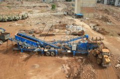 Concrete Crusher used in construction & demolition waste